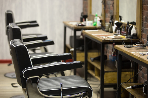 Indoors image of barbershop