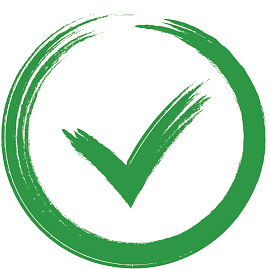 Green checkmark OK and red X icons,