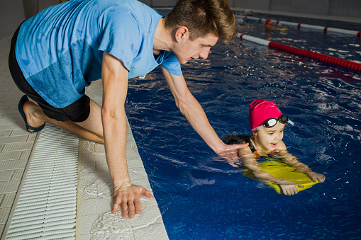 Individual children's swimming lesson